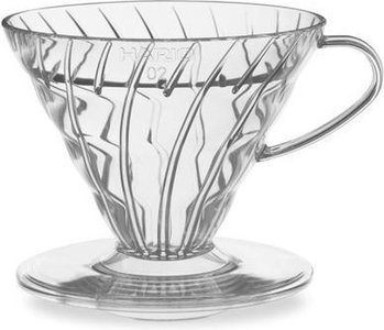 Hario V60-01 Plastic Coffee Dripper Clear